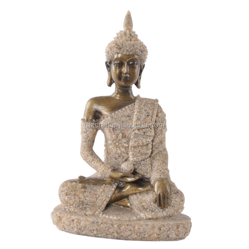 Hot Cheap small Sandstone with resin Thailand buddha statue for home decor 12133