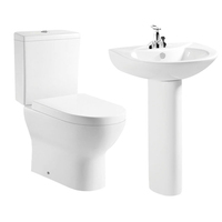 Sanitary wares bath combination ceramic toilet sink set / two piece toilets with sinks