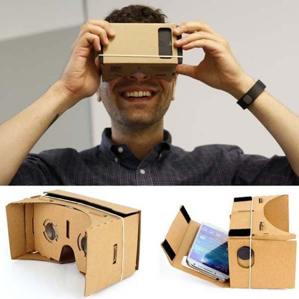 Google Cardboard Kit DIY 3D glasses by Lubar Virtual Reality Video Viewer Compatible with Android and IOS Smartphone