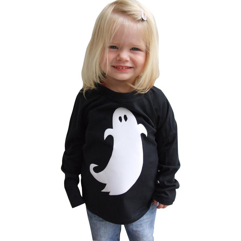 黒服ホワイトゴースト長袖シャツ子供ハロウィン衣装子供のため