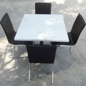 Easy clean square white table top /Stone round table top/ cafe tables and chairs