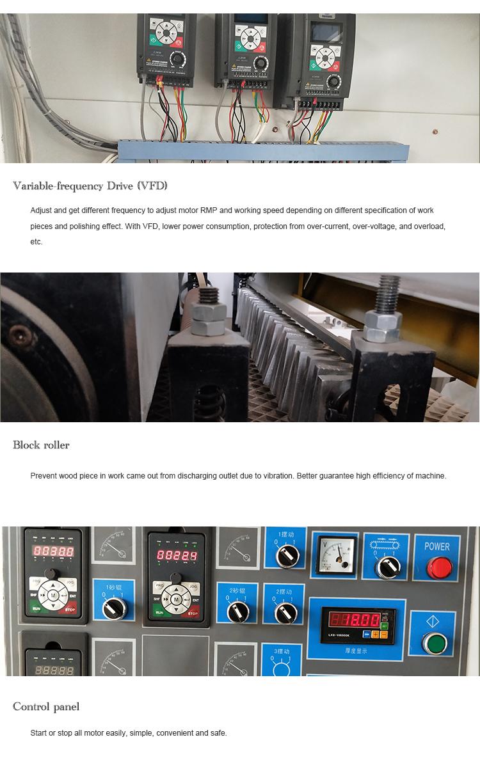 Qingdao 98% Productiviteit Houten Vloer Schuren Machine