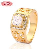 Chinese Style 18K Diamond Gold Finger Ring Rings Design For Men With Price