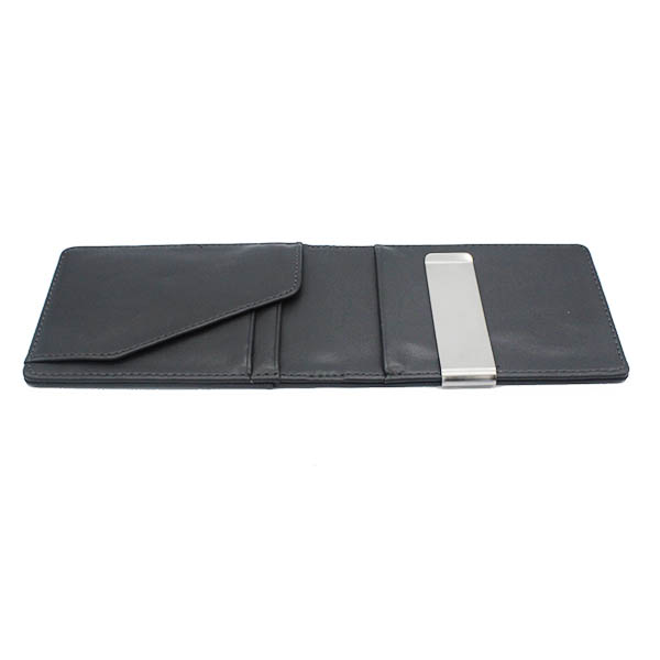 pu leather credit card <strong>wallet</strong> with metal money clip