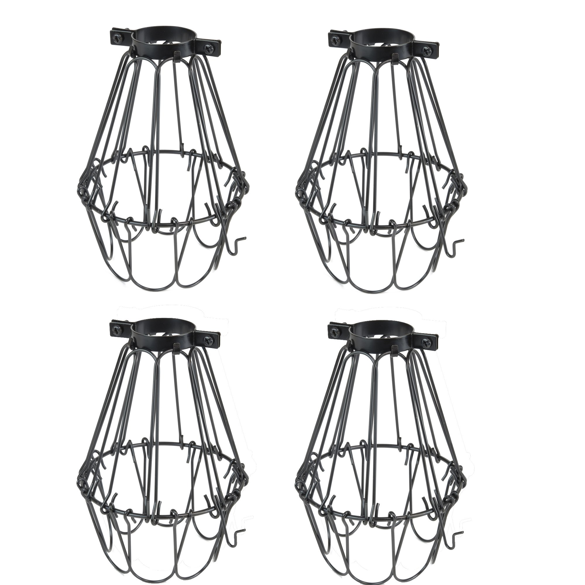 Cheap Cage Light Fixture Find Deals On Line At Adjustable Fluorescent Lighting Fixtures Wiring In Series Get Quotations Set Of 4 Industrial Vintage Style Black Hanging Pendant Metal Wire Lamp