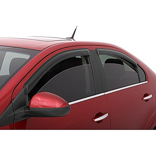 EGR 574801 Set of 4 In-Channel Window Vent Rain Guard Deflectors for Armada