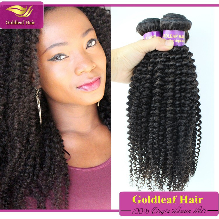Brazilian Tight Curly Weave Hair Extension Fashion Afro Kinky Curly