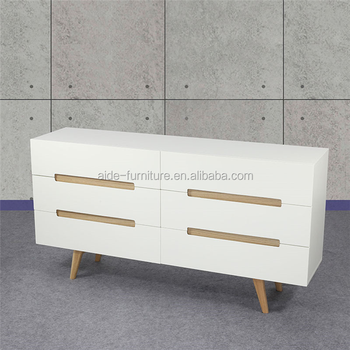 Nordic furniture white wooden chest of drawer side cabinet