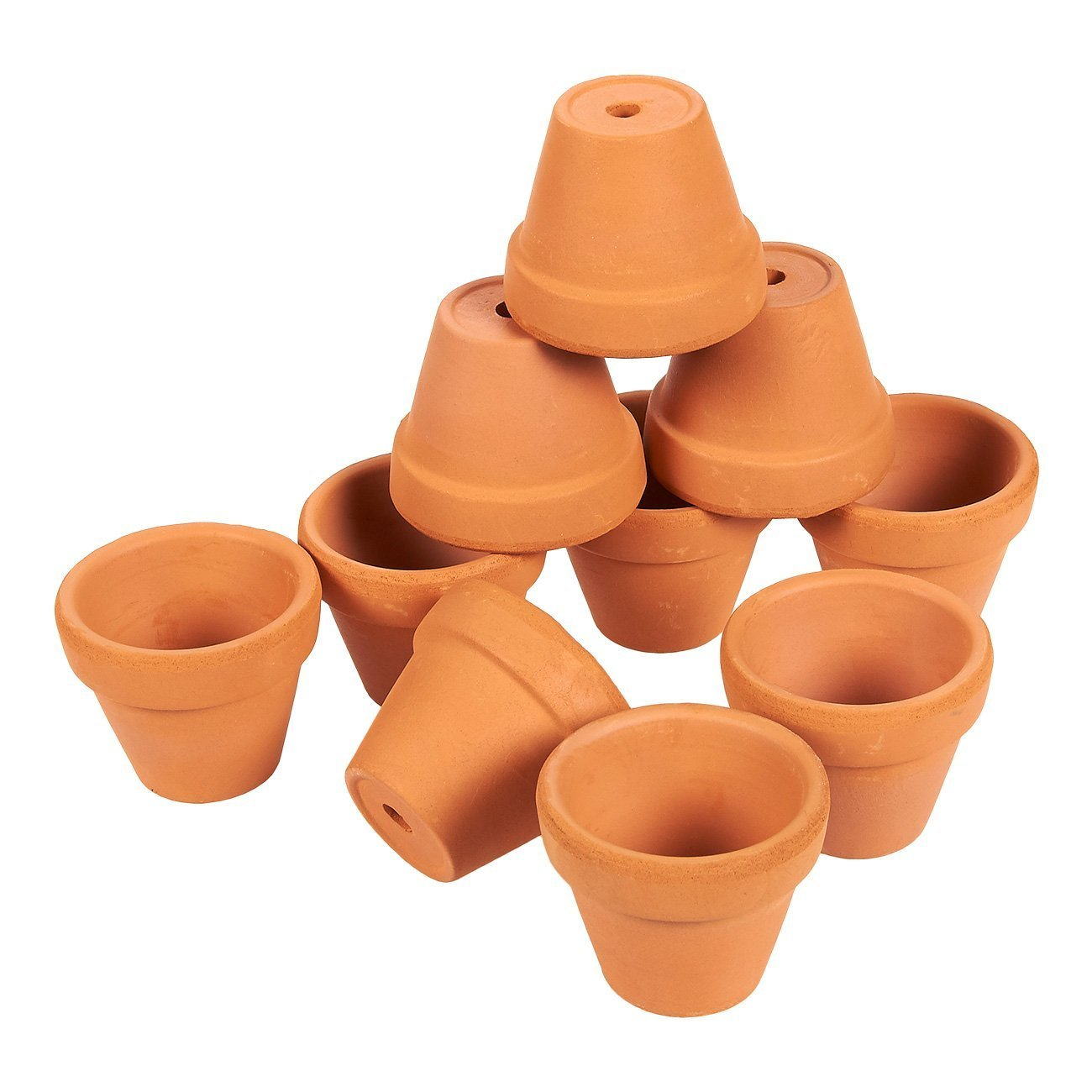 Para-wish Mini Terracotta Clay Pots - Great For Succulent & Cactus Nursery Planter, DIY Craft Projects, Wedding and Party Favors (16 Pack)