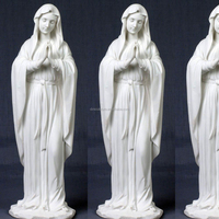 white marble holy Mary statue,stone praying Virgin Mary sculpture