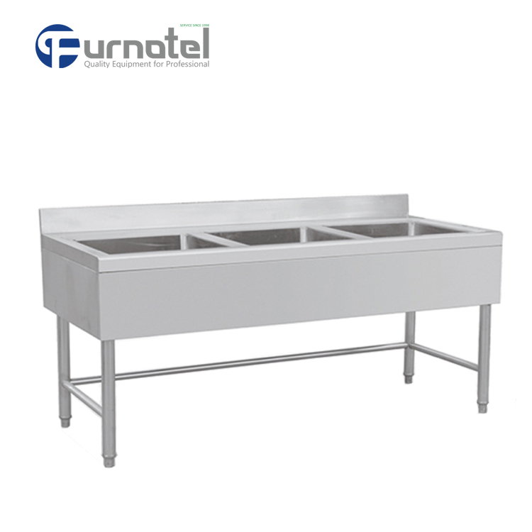 High Quality Handmade Kitchen Deep Free Standing Stainless Steel Sink