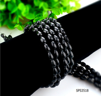 wholesale 2016 new fashion DIY waterdrop 6*9mm string black obsidian beads for jewelry making