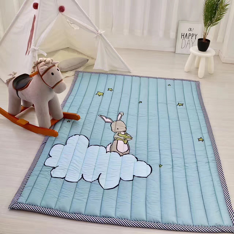 Hot Wholesale Baby Toys Comfortable Cotton Cartoon Animal Printing Children Crawling Pad Decorative Game Pad Lovely Animal