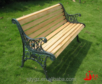 Wood Slats Cast Iron Outdoor Bench For Park Buy Wood