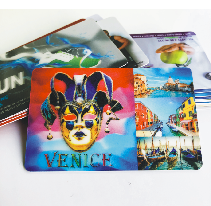 3D lenticular business promotion card with change content