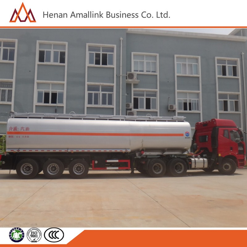 2016 3 axles China manufacture Fuel aluminum alloy tank semitrailer / carbon steel oil tanker trailer