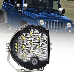 OVOVS 5Inch led Round Work Light 50w White Amber Work light Off-road Driving Light for Jeep