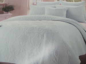 Cotton embroidery quilt set bouti/king size quilted bedspreads