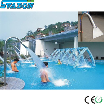 Stainless Steel Swimming Pool Waterfall Swimming Pool