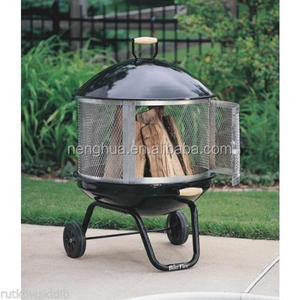 Well Traveled Living 28-inch Patio Fireplace 360-degree,trolley fire pit