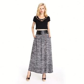 2016 New Collection High Waist Skirt Arabic Long Skirt Women Maxi ...