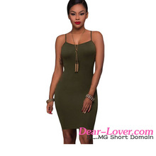 2017 Wholesale Hot Girls Army Green Seamless Sexy Short Tight Mini Dress