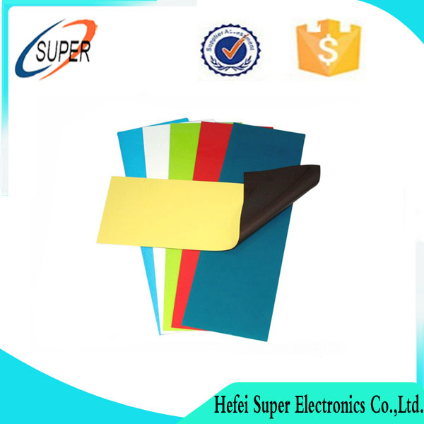 Customized soft PVC rubber magnet sheet flexible adhesive magnetic