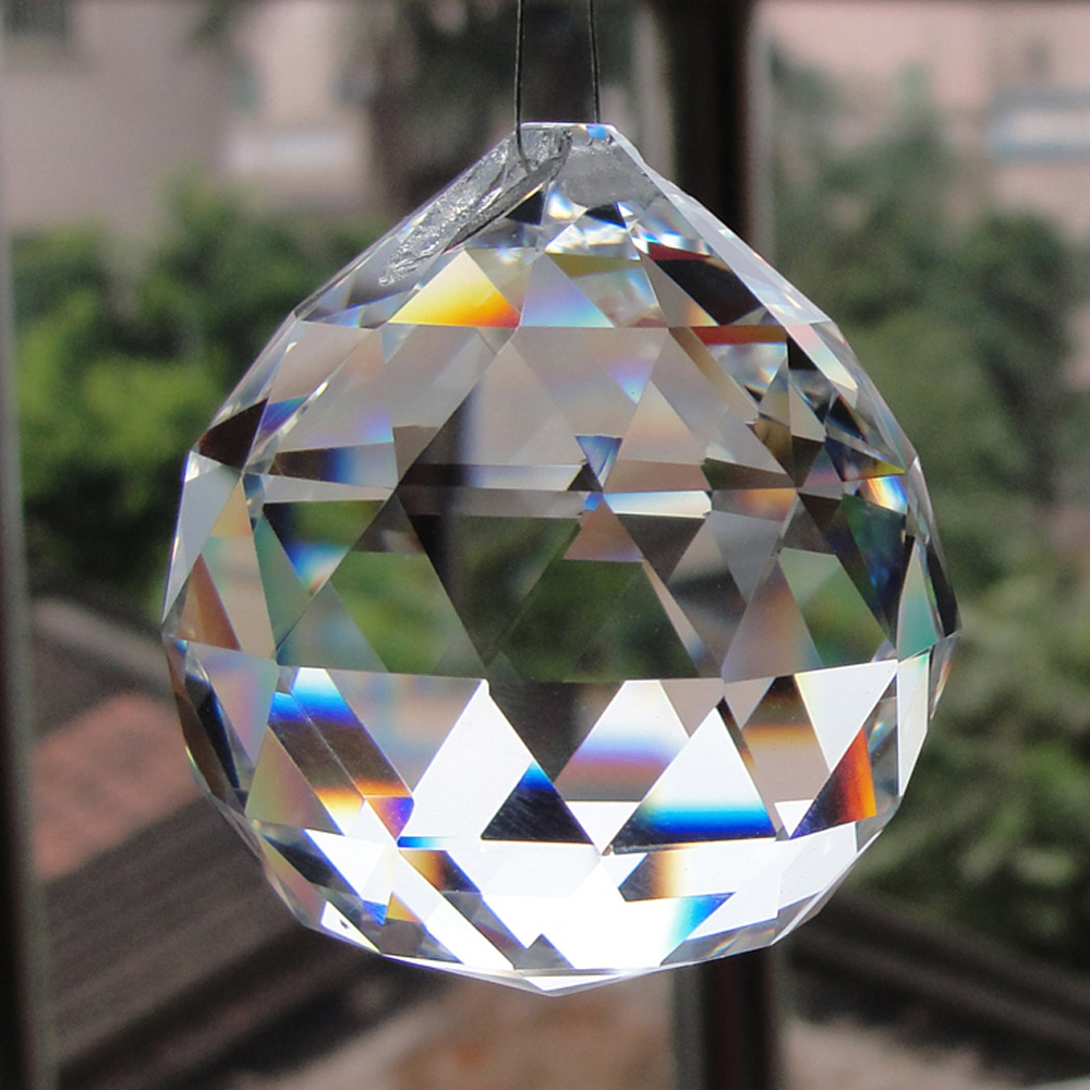 Clear crystal ball prism voor opknoping kroonluchter lamp accessoires