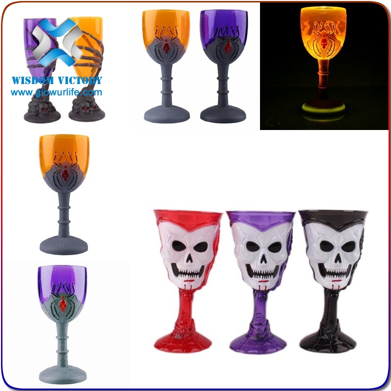 halloween 600ml Plastic LED Flashing Beer Cup for Party and Club glow in the dark plastic cup