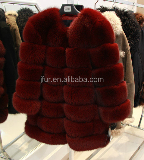 Fashionable Vintage Fox Fur Coat Bolero Arctic Fox Fur Overcoat ...
