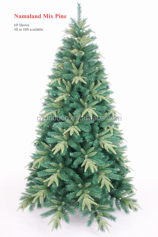 9 Ft Pvc Mixed Pe Balsam Fir Pine Christmas Tree For Christmas ...