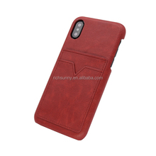 2018 Shenzhen Manufacture Of Slim PU Leather , Card Holder Case For Mobile Phone