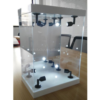 Master Light House Acrylic Display Case With Lighting Led Illuminated Product On