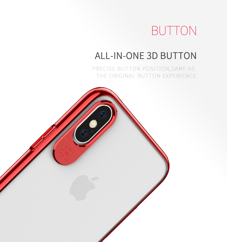 Recci Glint series Electroplating craft phone cover for iPhone XS/iXR/iXS Max