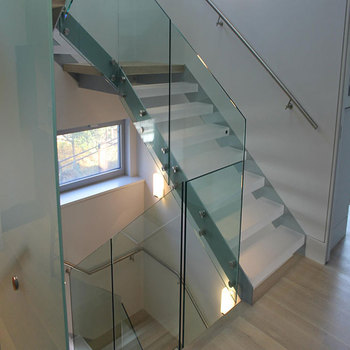 Luxury Steel Stringer House Design Interior U Shape Modular Staircase