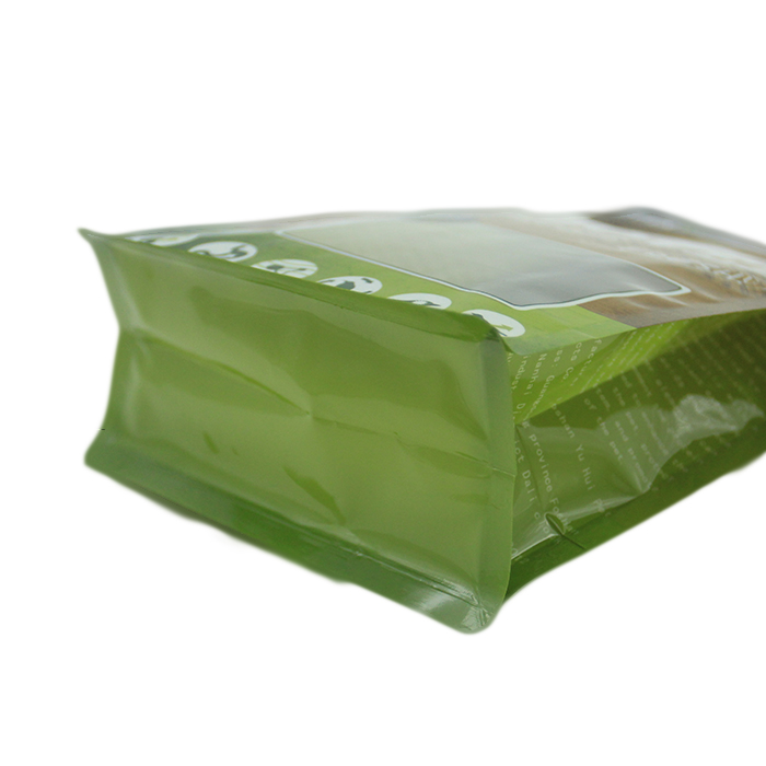 Low cost OEM printed reclosable flat bottom pouch animal feed cat dog food plastic packing bag