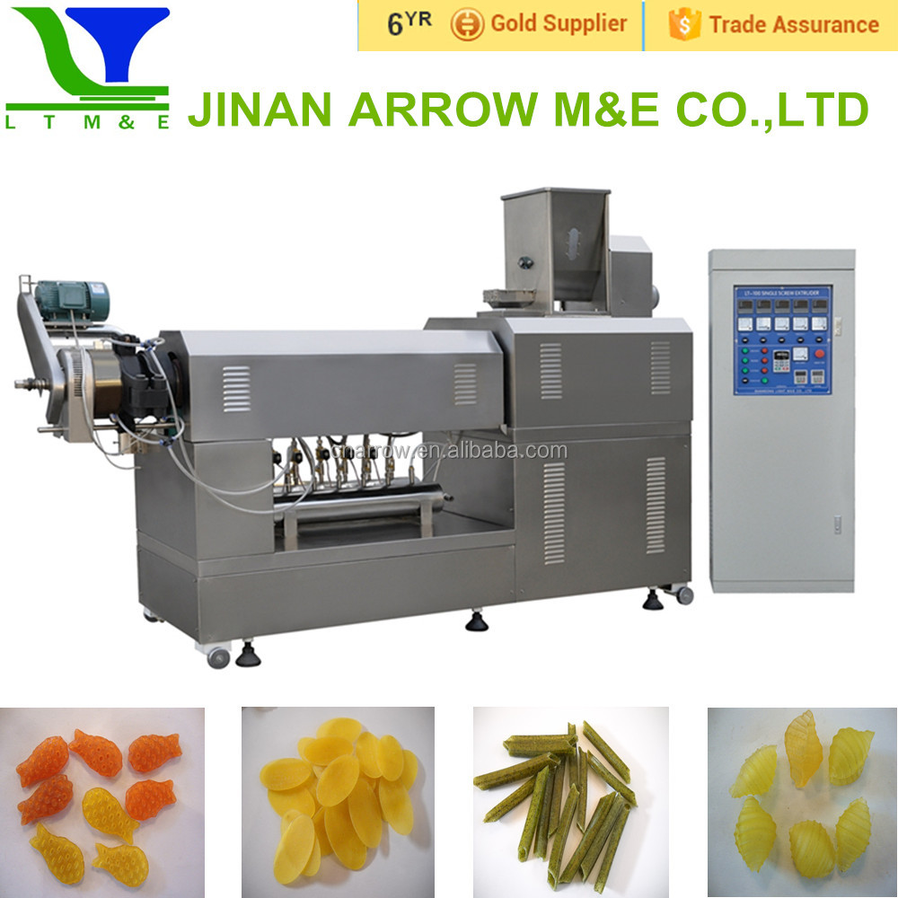 snack food single screw extruder machine
