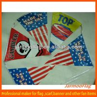 advertising cloth bunting flag on string
