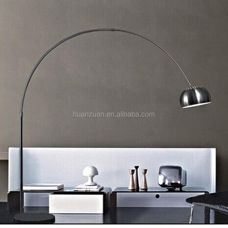 Fashion Sitting Room Black Linen Bending Floor Lamp,White/black ...