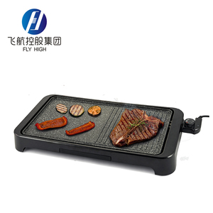 multi function cool handles aluminum non-stick surface home electric indoor barbecue bbq grill/griddle with marble coating
