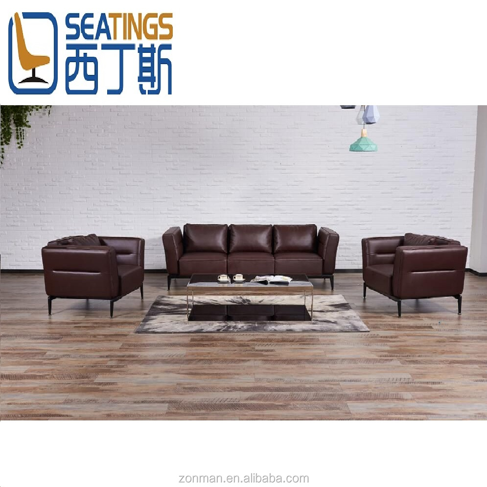 Modern Simple Sofa Set Design Knock-down Leather Sofa Set for Office, View  modern simple sofa set design, Seatings Product Details from Heshan Zonman  ...