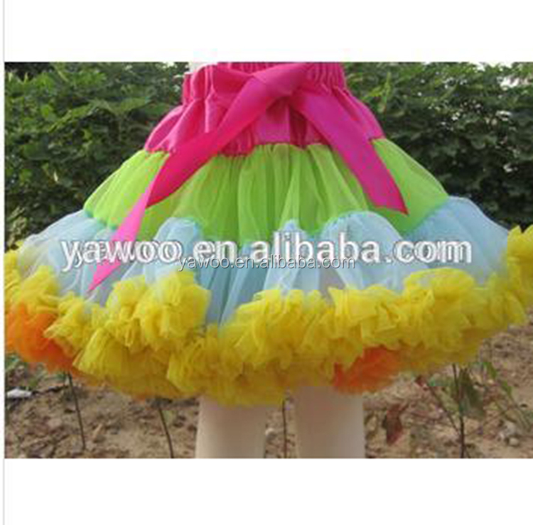 2013New Fashion!Baby Girls Christmas Pettiskirt Soft Chiffon Baby Girl's Tutu Party Skirt Cute Girls Chiffon Fluffy Pettiskirt