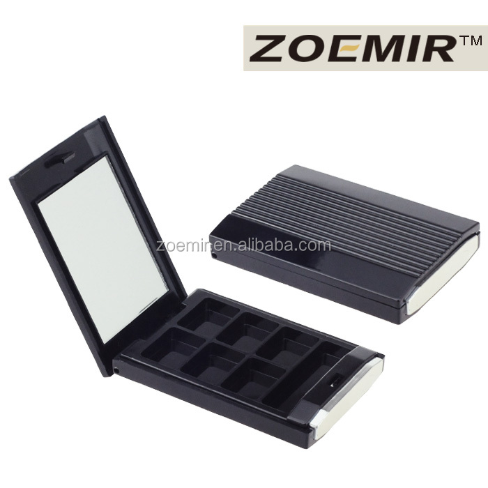 Rectangle 6 color compact powder case packaging for eyeshadow / face compact