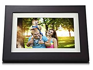 ViewSonic VFD1028w-31 10.1-Inch High Resolution 1024x600 Digital Photo Frame with Calendar/Clock function and Auto on/off feature (Espresso Finish)