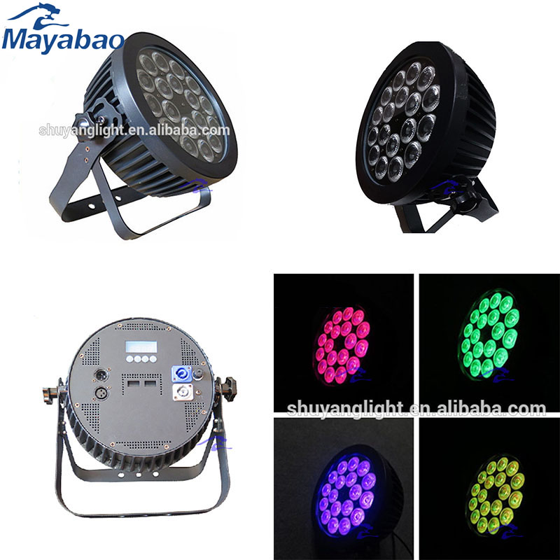 waterproof led par dmx par led 18x15w RGBWA+UV 6in1 led par 64 for dj disco