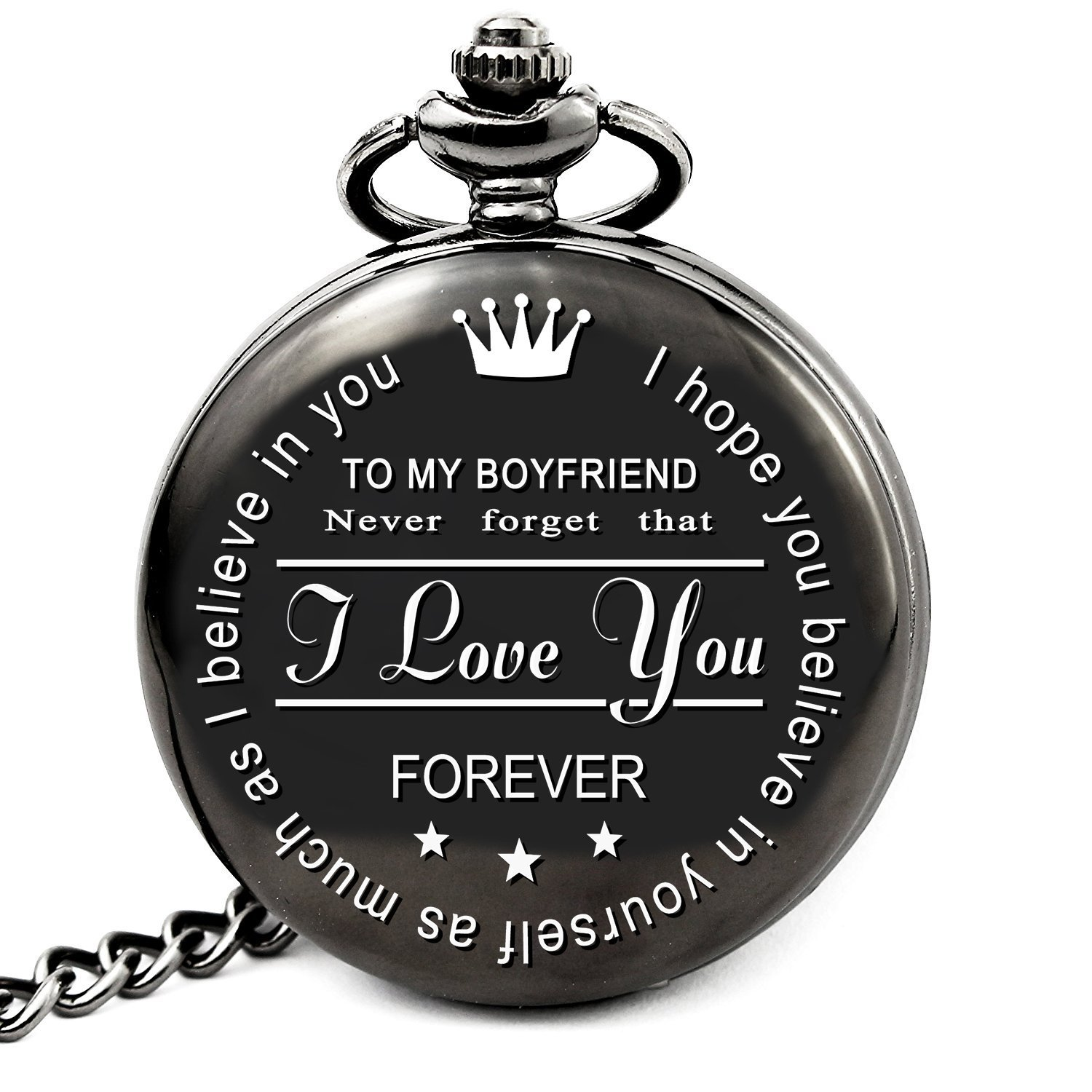 Get Quotations LEVONTA Boyfriend Birthday Gifts For Best Christmas From Girlfriend Personalized Pocket Watch