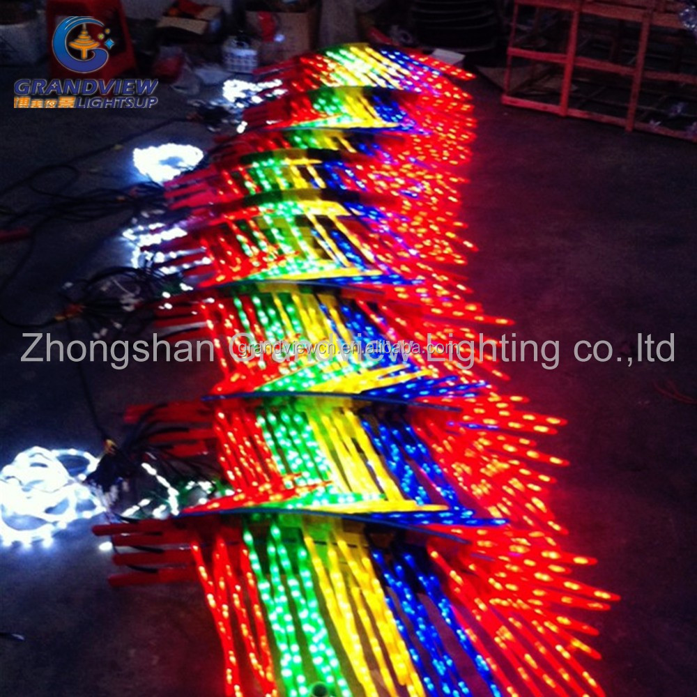Led Outdoor Multicolor Palm Tree Light Colorful Branches ...