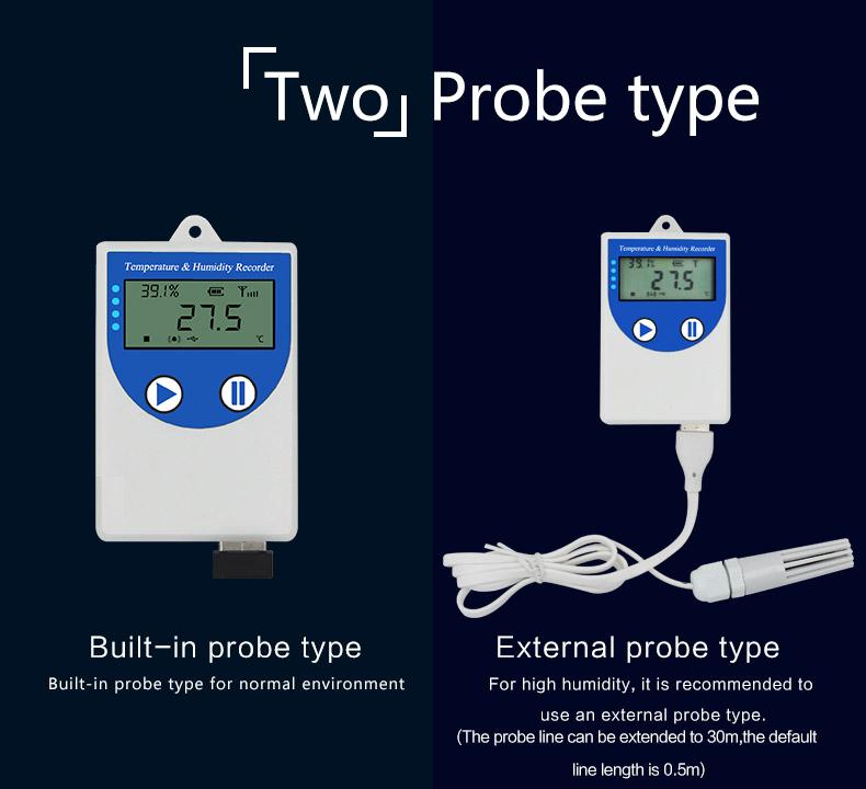 USB flat wire software temperature humidty recorder freezer temperature sensor