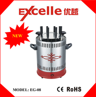 8 skewers electric vertical automatic rotary barbecue grill