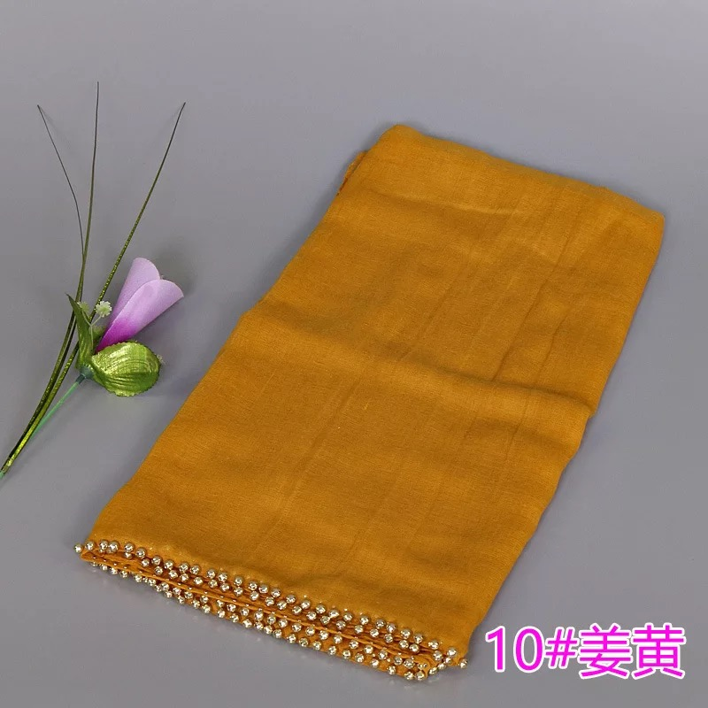 HOT sale multicolor cotton viscose scarf with nail gold beads shawl for scarf women hijab